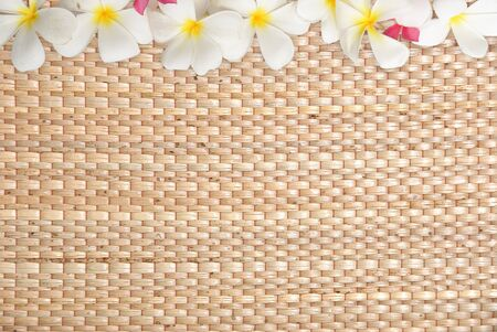 Frangipani  on mat Stock Photo - 9940380