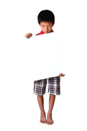 Boy with Blank Board photo