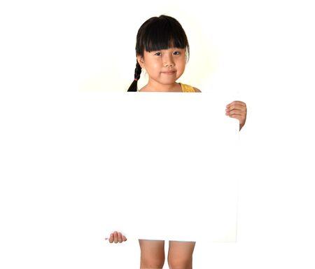 Girl with Blank Board photo