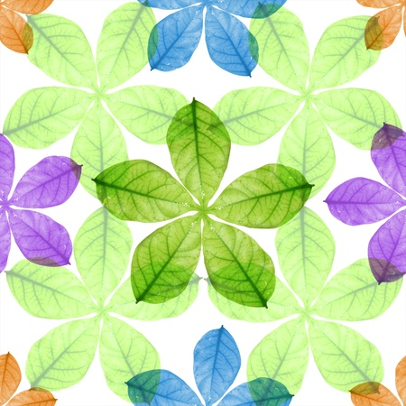 Seamless colorful  leaves