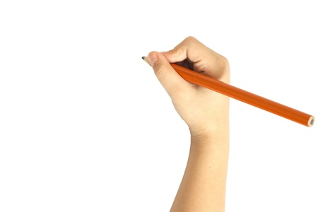 hand with pencil: Writing Draw Stock Photo