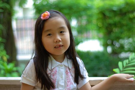 portrait of a cute little girl Stock Photo - 10427333