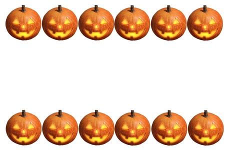 Scary Halloween Pumpkin Jack-o-lantern Candle Lit, Isolated On ...