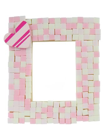 Pink mosaic photo frame photo