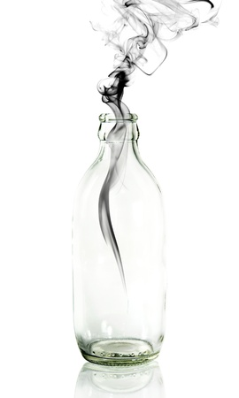 poison bottle: Smoke from Glass bottle