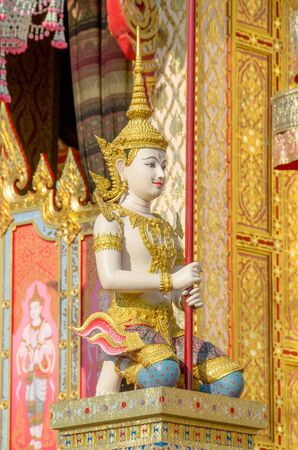 Statue angle in Thai Royal Crematorium photo