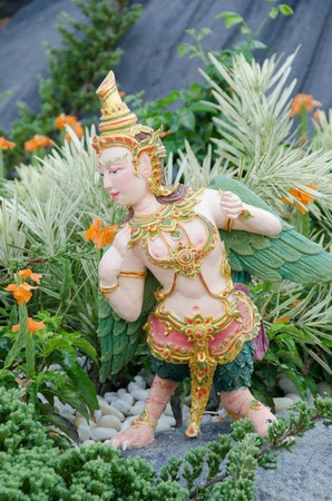 Thai Creatures statue from legend of Mysterious forest in Thai Royal Crematorium Stock Photo - 13555231