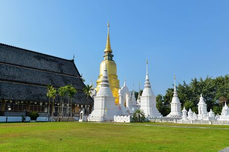 Golden Pagoda at Wat Suan-DokT, Chieng Mai Province, Thailand Stock Photo - 13653673