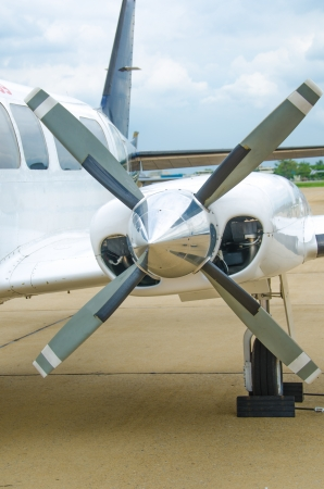 mechanical energy: Close up of aircraft propeller