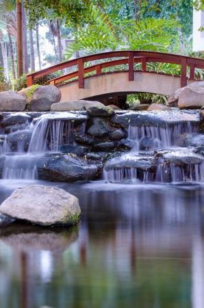 bassin jardin: Cascade dans la gaden