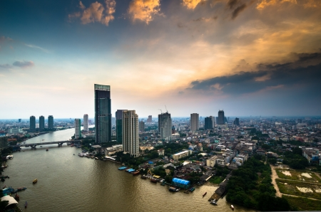 방콕시의 공중보기