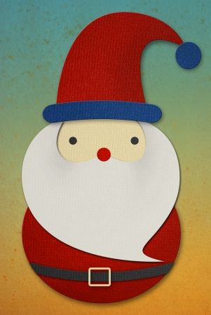 Santa Claus papercut on grunge background  photo