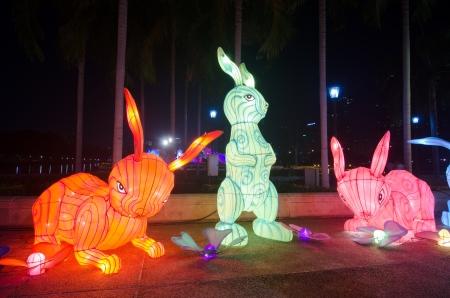 benjakitti: Fancy lantern at Benjakitti Park, Thailand