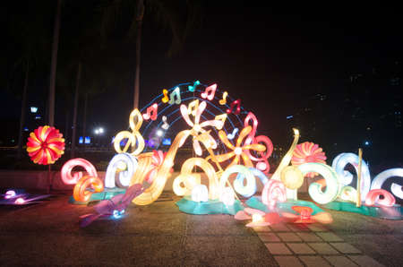 Fancy lantern at Benjakitti Park, Thailand photo