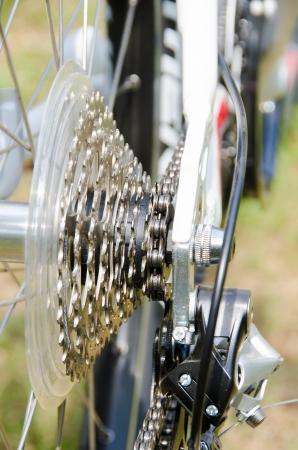 산악 자전거 바퀴의 일부