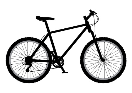 spokes: Mountain bike Illustration