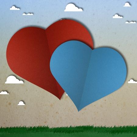 love heart papper cut Stock Photo - 17475203
