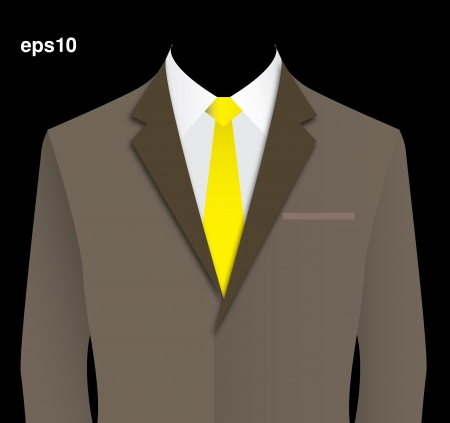 Brown suit  Vector