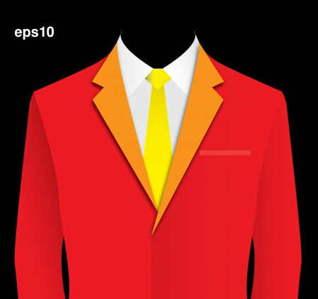 Red suit Stock Vector - 17475199