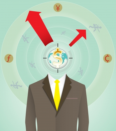 bussiness time: Time for money , Bussiness concept Illustration
