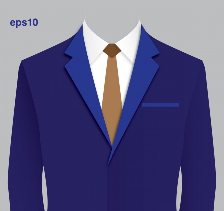 Blue suit Vector