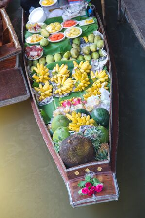 practiced: Floating market in Thailand
