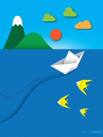 Origami fish, vector Stock Vector - 18704769