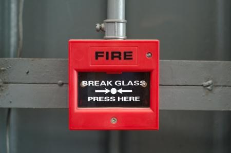 Fire alarm box in factory Archivio Fotografico