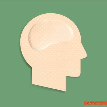 Adhesive bandage in Head Form Vector