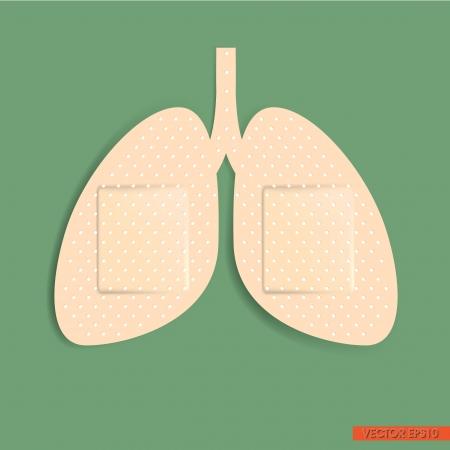 Lung Adhesive bandage Vector