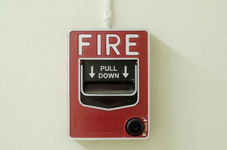 sprinkler alarm: Fire alarm box Stock Photo