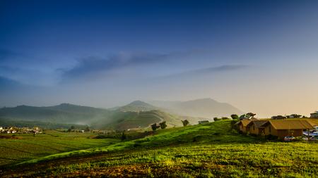 Beautiful landscape panorama photo