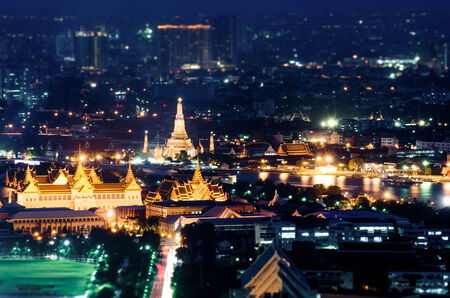 Grand palace at twilight in Bangkok, Thailand   photo