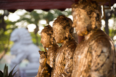 Statues of Ancient gods buddha  photo