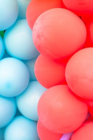 Multicoloured balloon background photo