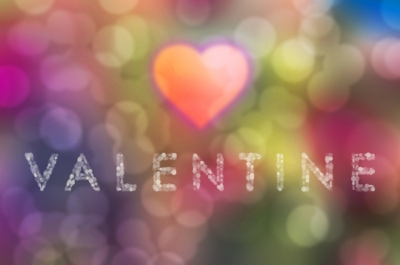 corazon: Valentine  Bokeh on a colorful Background Stock Photo