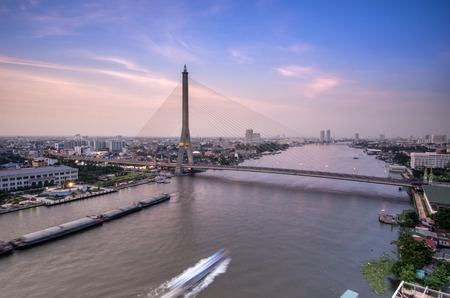 Rama 8 Bridge, Mega bridge in Bangkok Thailand photo