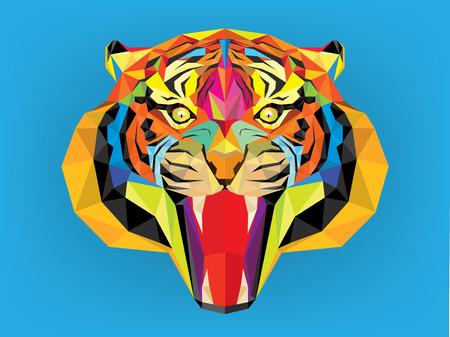 Тигр голову с геометрическим стилем Фото со стока