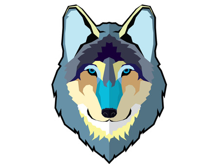 Graphic wolf head
