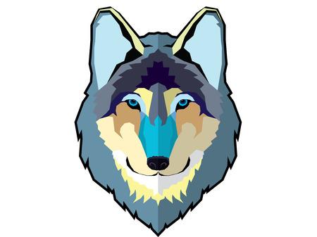 Graphic wolf head