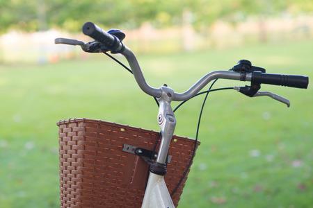 handlebars: Detail of a Bicycle