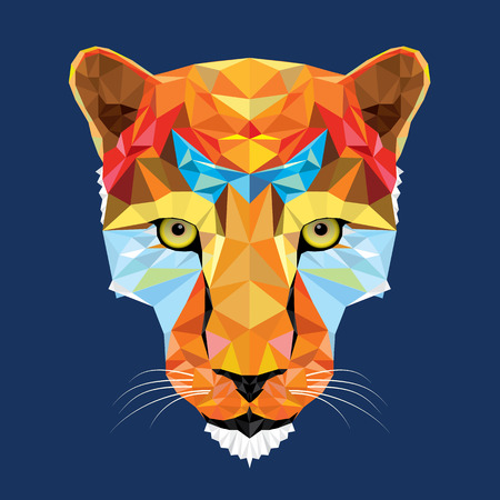 幾何学模様の野生の猫のヒョウ