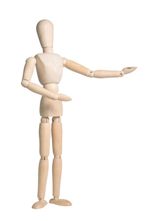 Wooden Dummy Isolated Over White with clipping path photo