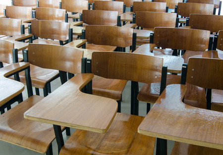 Chair in classroom photo