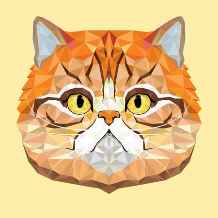 persian art: Persian Cat vector polygon geometric Illustration