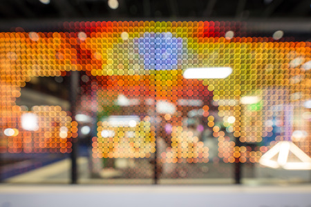 Blurred abstract view on LED lighting  wall