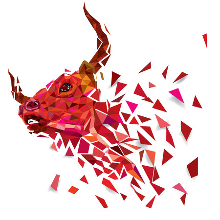 BULL low polygon Geometric vector