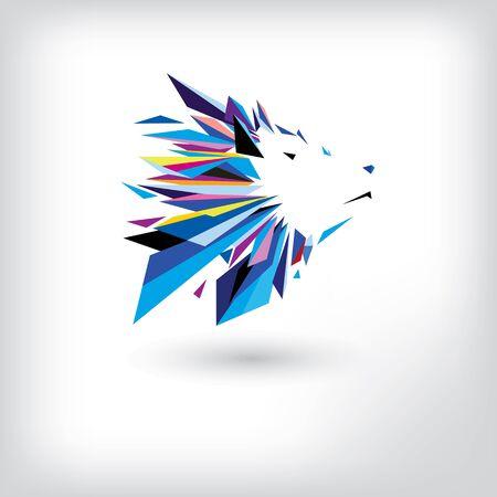 Wolf head logo design template. Vector illustration