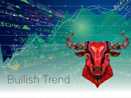 Bullish symbolen op de beurs