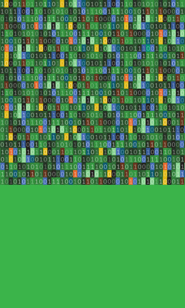 Binary code computer matrix  art design.